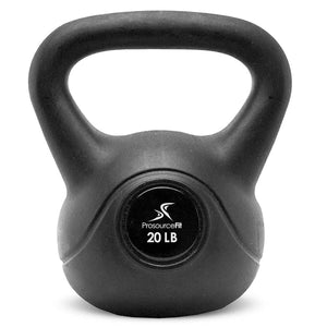 Prosource Vinyl Kettlebells with Extra Large Handles 20lb