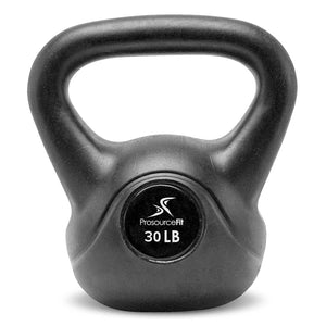 Prosource Vinyl Kettlebells with Extra Large Handles 30lb