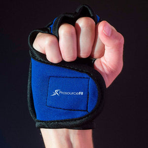 Prosource Weighted Neoprene Gloves - Pair of 1 lb each blue
