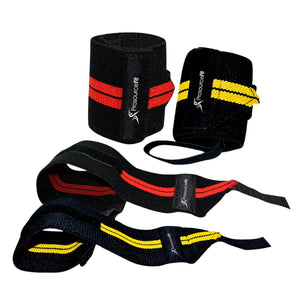 Prosource Weightlifting Wrist Wrap with Thumb Loop - Pair