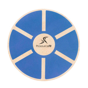 Prosource Wooden Balance Board - Core Trainer blue