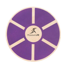 Load image into Gallery viewer, Prosource Wooden Balance Board - Core Trainer purple