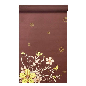 "Prosource Yoga Exercise Pilates Mats 3/16"" (5mm thick) - Printed Design floret"