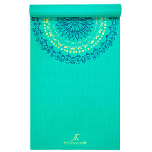 "Load image into Gallery viewer, Prosource Yoga Exercise Pilates Mats 3/16"" (5mm thick) - Printed Design mandala"