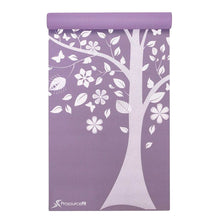 "Load image into Gallery viewer, Prosource Yoga Exercise Pilates Mats 3/16"" (5mm thick) - Printed Design tree"