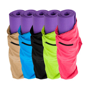 Prosource Yoga Mat Bag with Side Pocket and Cinch Top