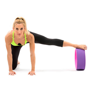 Prosource Yoga Wheel for Stretching and Support pink purple