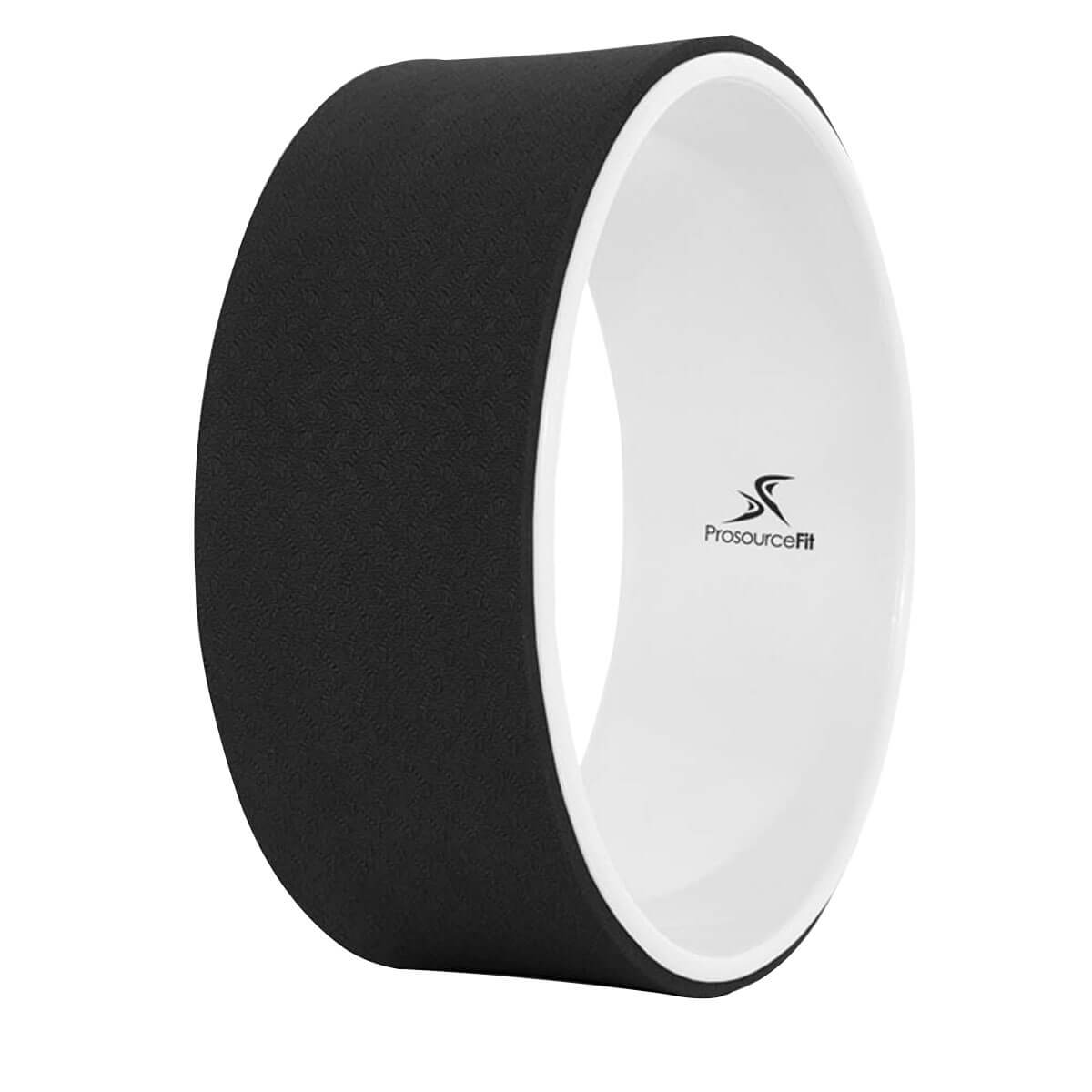 Prosource Yoga Wheel for Stretching and Support black white