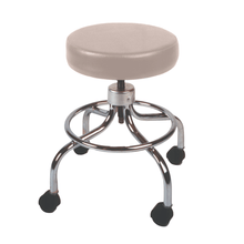 Load image into Gallery viewer, Mechanical Mobile Stool with no Back and Adjustable Height sand