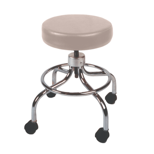 Mechanical Mobile Stool with no Back and Adjustable Height sand