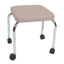 "Load image into Gallery viewer, Mobile Stool with no Back - Square Top 18"" H sand"