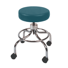 Load image into Gallery viewer, Mechanical Mobile Stool with no Back and Adjustable Height slate