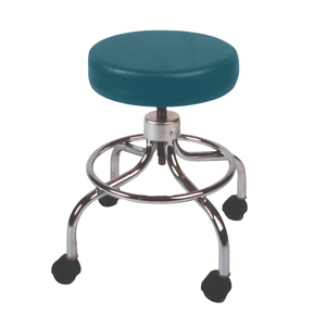 Mechanical Mobile Stool with no Back and Adjustable Height slate