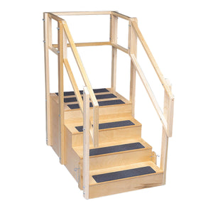 "Straight Training Stairs - 4 Steps with Platform - 55""L x 30""W x 54""H"