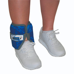 The Adjustable Cuff® Wrist or Ankle Weight - With Inserts - Each blue