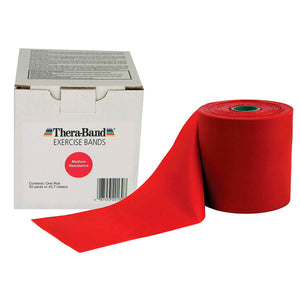 TheraBand® Latex-Free Resistance Exercise Band - 50 Yard Roll red