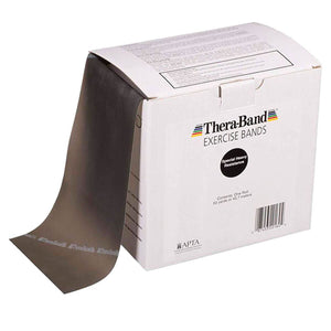 TheraBand® Latex Resistance Exercise Band - 50 Yard Roll black