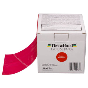 TheraBand® Latex Resistance Exercise Band - 50 Yard Roll red