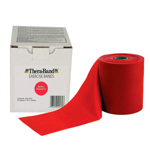TheraBand® Latex Resistance Exercise Band - 50 Yard Roll yellow red
