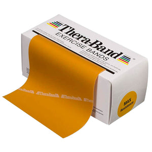 TheraBand® Latex Resistance Exercise Band - 6-yard Dispenser Box gold