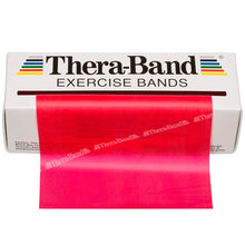 Load image into Gallery viewer, TheraBand® Latex Resistance Exercise Band - 6-yard Dispenser Box red