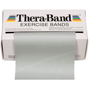 TheraBand® Latex Resistance Exercise Band - 6-yard Dispenser Box grey
