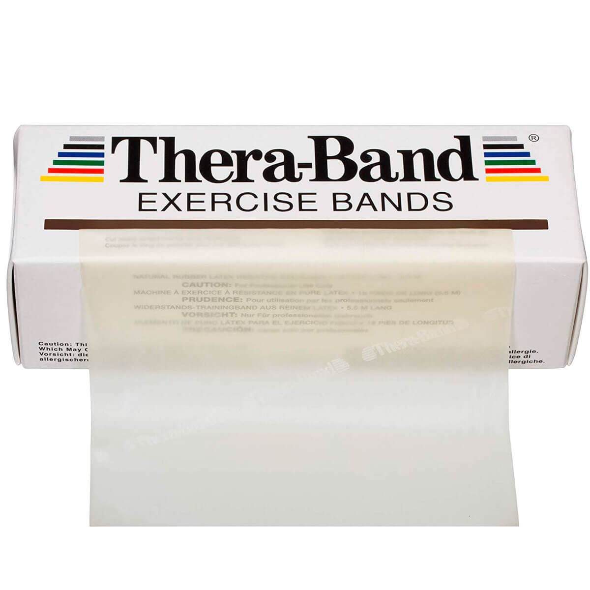 TheraBand® Latex Resistance Exercise Band - 6-yard Dispenser Box tan