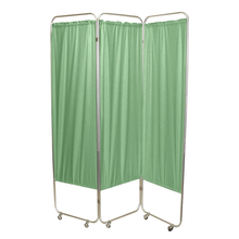 Load image into Gallery viewer, Standard Foldable Privacy Screen with Casters - Vinyl 3 pannel green