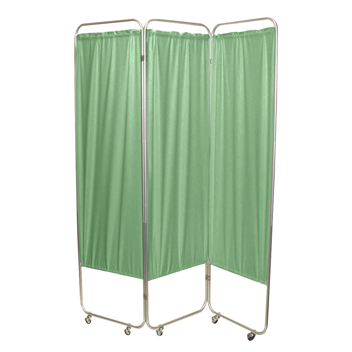 Standard Foldable Privacy Screen with Casters - Vinyl 3 pannel green