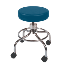Load image into Gallery viewer, Mechanical Mobile Stool with no Back and Adjustable Height wedgewood