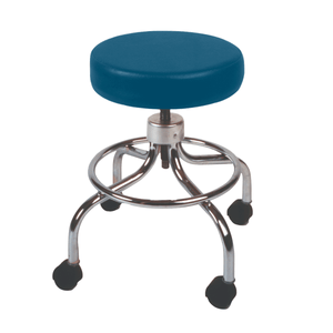 Mechanical Mobile Stool with no Back and Adjustable Height wedgewood