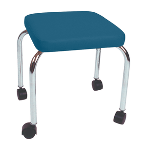 "Mobile Stool with no Back - Square Top 18"" H wedgewood"