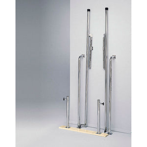 "Wall-Mounted Folding Parallel Bars with Wood Base and Adjustable Height (28""- 42"")"