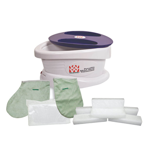 WaxWel® Paraffin Bath - Standard Unit with 100 Liners, 1 Mitt, 1 Bootie and 6 lb Paraffin