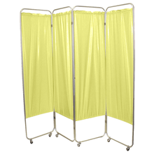 Load image into Gallery viewer, Standard Foldable Privacy Screen with Casters - Vinyl yellow