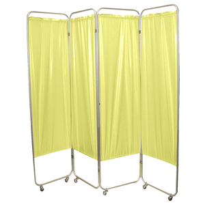 Standard Foldable Privacy Screen with Casters - Vinyl yellow