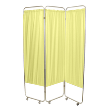 Load image into Gallery viewer, Standard Foldable Privacy Screen with Casters - Vinyl 3 pannel yellow