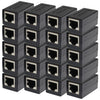 RJ45 In-Line Coupler Connector for Cat7 Cat6 Cat5E Cable Extender Adapter 20 pieces