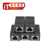 RJ45 In-Line Coupler Connector for Cat7 Cat6 Cat5E Cable Extender Adapter 5 pieces