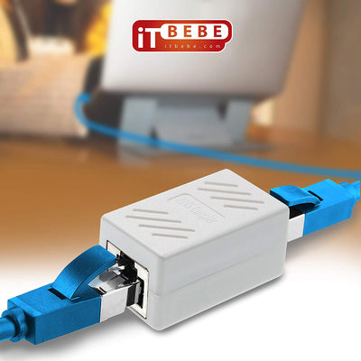 ITBEBE RJ45 in-Line Coupler Connector Cat7 Cat6 Cat5E Ethernet Network Cable Extender Adapter (1-Piece, White)
