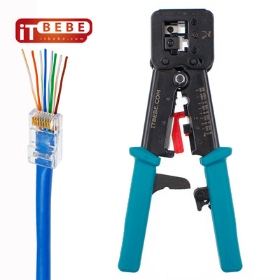 Premium quality passthrough RJ45 Crimping Tool with extra 5 blades