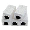 ITBEBE RJ45 in-Line Coupler Connector Cat7 Cat6 Cat5E Ethernet Network Cable Extender Adapter (5-Pieces, White)