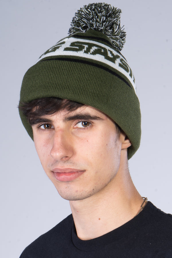 BOBBLE / BEANIE / CUFF / ARMY GREEN