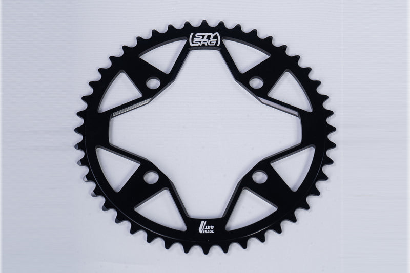 7075 ALLOY / 4 BOLT / CHAINRING / BLACK