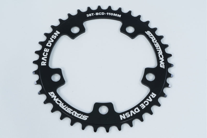 6061 ALLOY / 5 BOLT / CHAINRING / BLACK