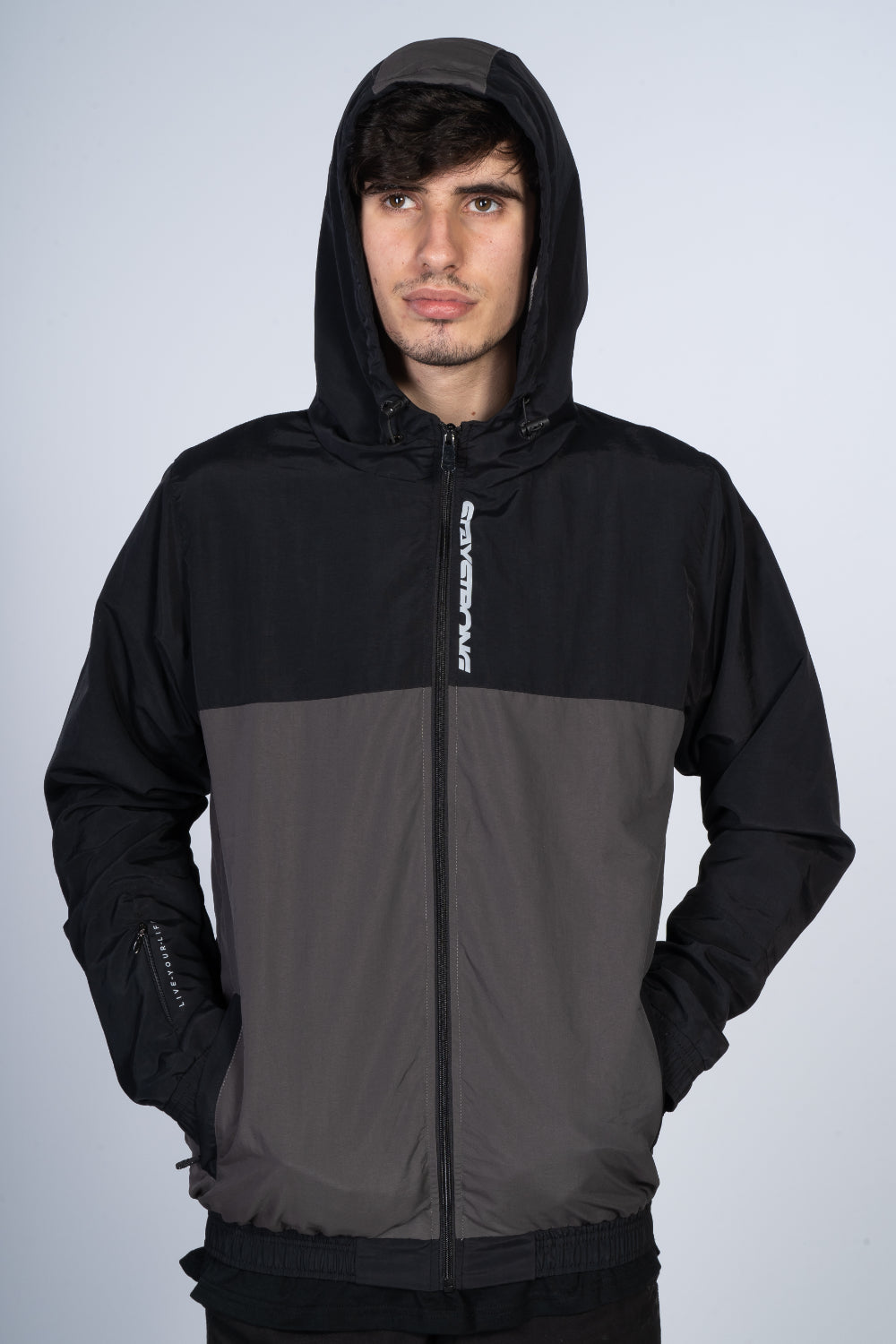 CUT OFF VERTICAL / JACKET / FULL ZIP / BLACK/GREY