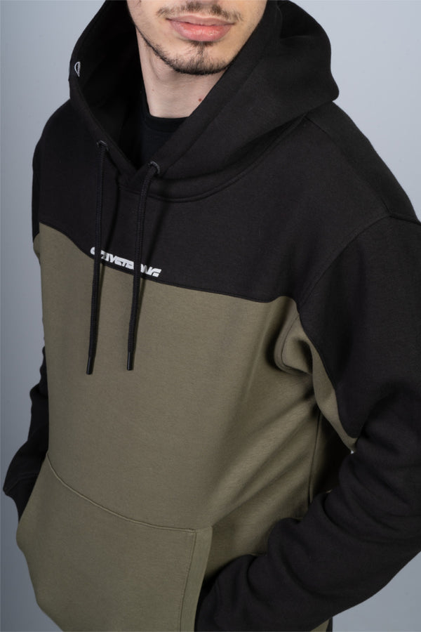 CUT OFF / HOODY / BLACK / OLIVE