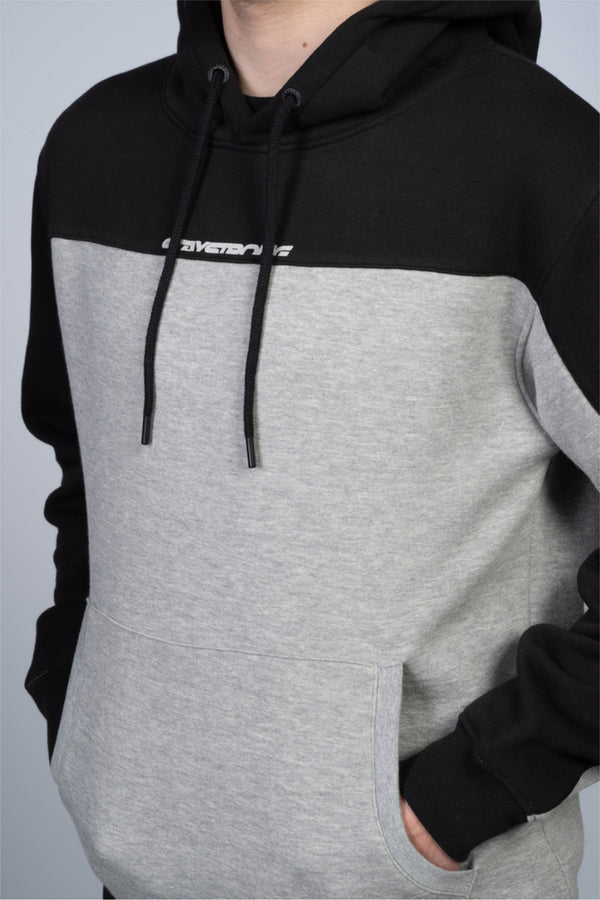 CUT OFF / HOODY / BLACK GREY