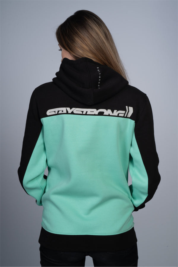 CUT OFF / HOODY / LADIES / BLACK MINT