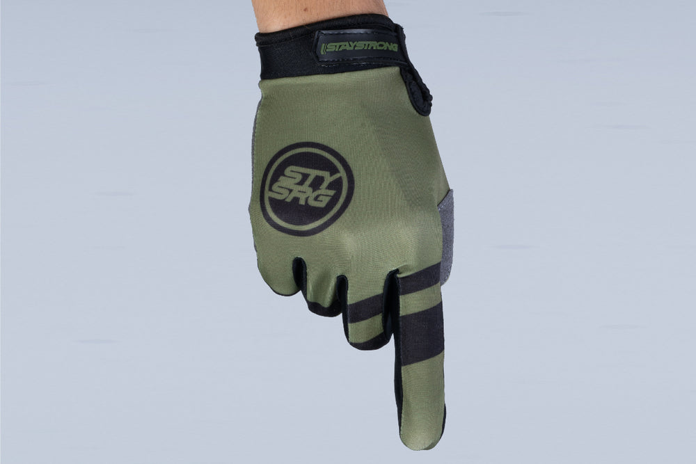 CHEVRON / GLOVES / ADULT / ARMY GREEN